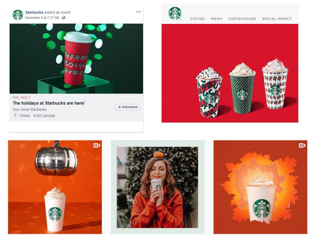 Starbucks Different Social Media Platforms