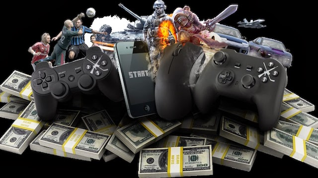 Online gaming money visual