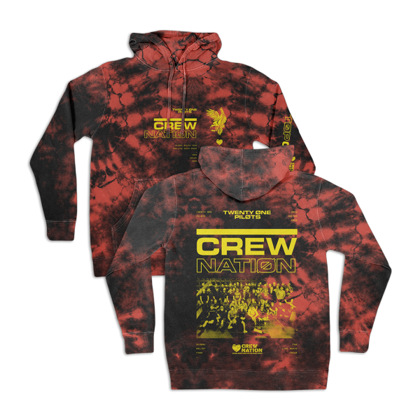 Twenty One Pilots crew nation hoodie